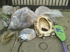 掲示を無視して侵入「今日もゴミをたくさん拾いました」