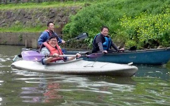草加青年会議所カヌー体験