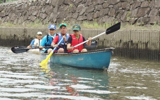 「ボーイスカウト草加第8団」カヌー体験