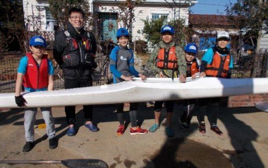 カヌースプリント競技の練習(1)