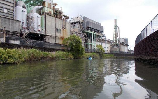 古綾瀬川で3袋回収