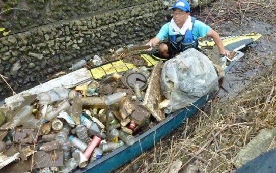 2019(令和元年)浮遊ゴミ回収 年間/828袋回収!