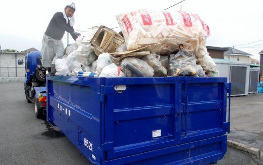 浮遊ゴミ350袋10㎥回収