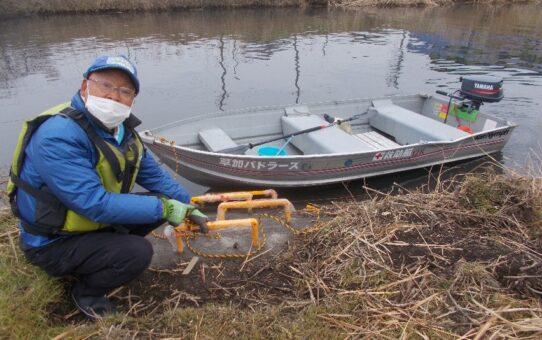 長栄中央公園簡易船着場初上陸