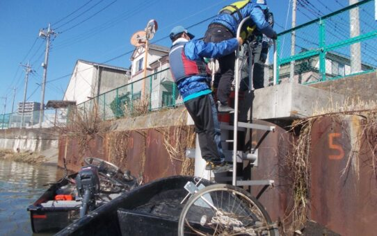 水神橋/自転車3台回収