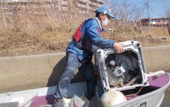 綾瀬橋/4名3袋、洗濯機1台