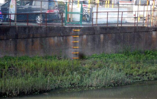 毛長川水神橋船着場設置