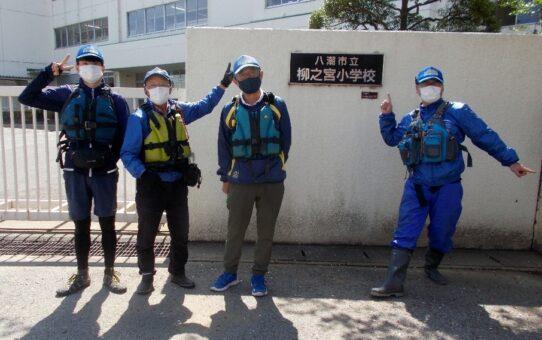 救助艇3艇出動 八潮まで救援物資輸送訓練