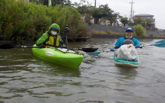 雨中/宮代橋3名で4袋回収