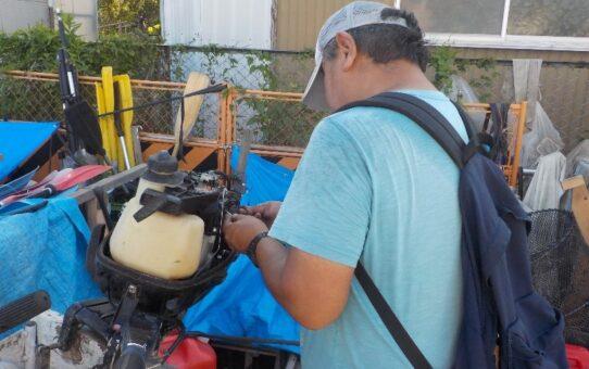 ヤマハ4馬力エンジン修理